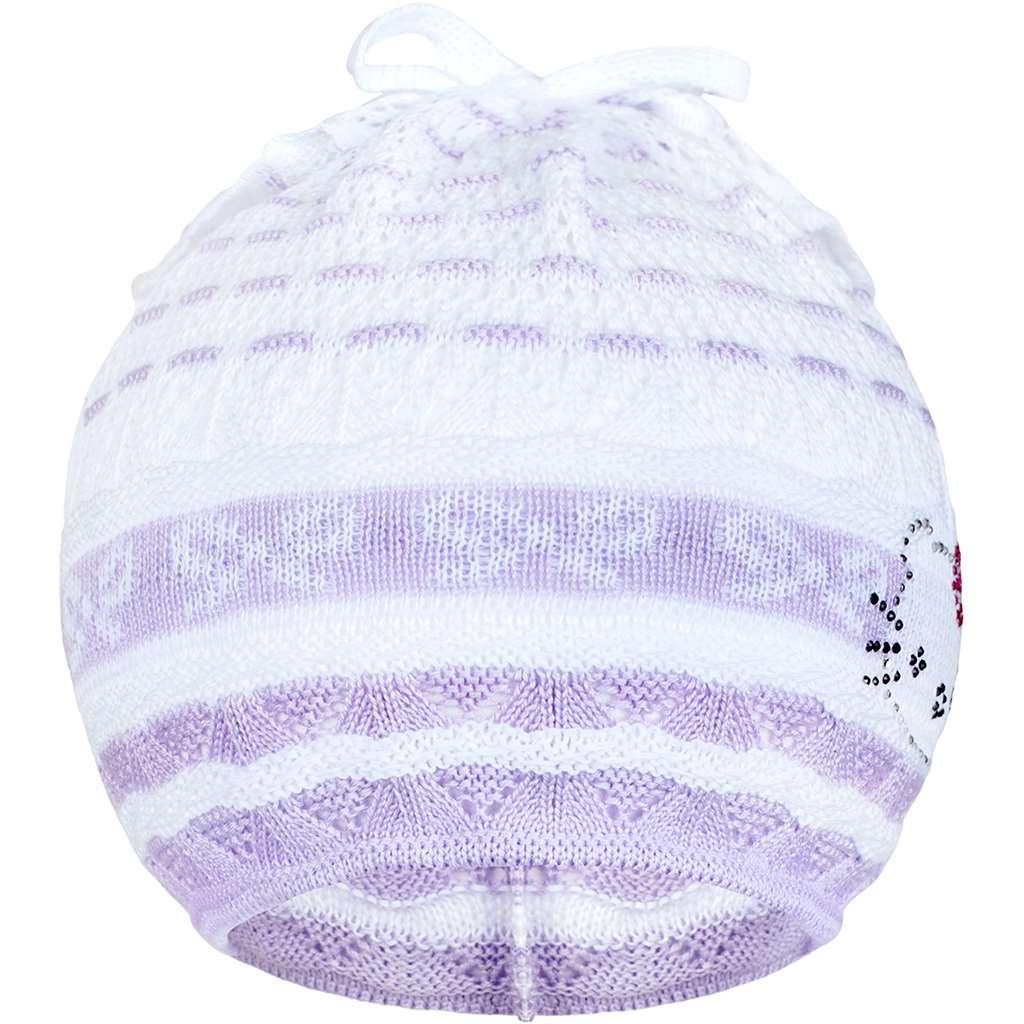 Pletená čepička-šátek New Baby kočička