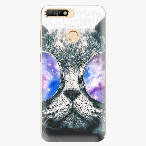 Silikonové pouzdro iSaprio - Galaxy Cat - Huawei Y6 Prime 2018