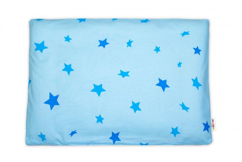 Baby Nellys Povlak na polštářek Baby Stars, 40x60 cm - modrý