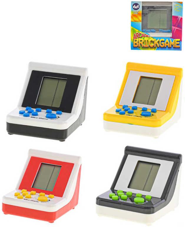Hra elektronická Tetris Brick game na baterie různé barvy Zvuk