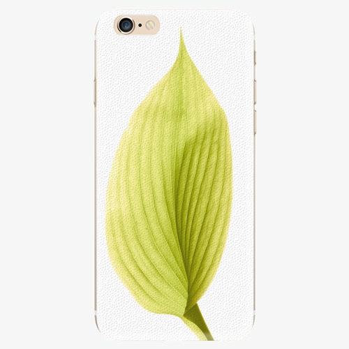 Silikonové pouzdro iSaprio - Green Leaf - iPhone 6/6S