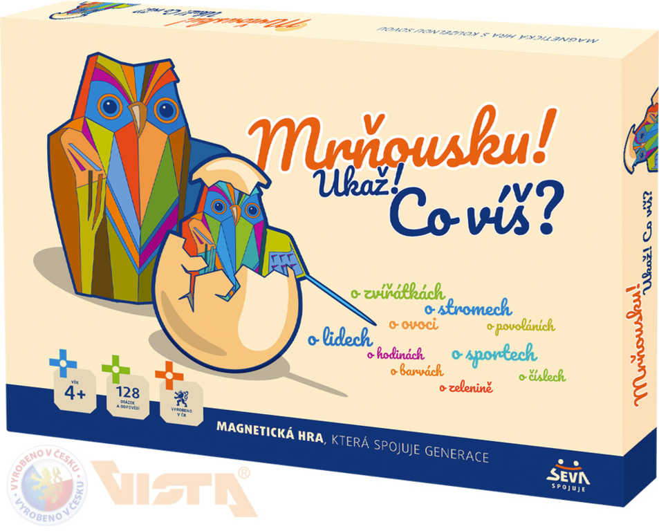 VISTA Hra magnetická vědomostní Mrňousku! Ukaž! co víš? *SPOLEČENSKÉ HRY*