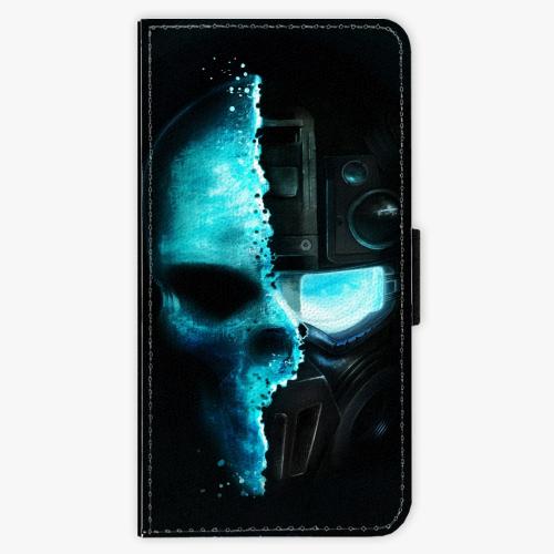 Flipové pouzdro iSaprio - Roboskull - Huawei Ascend P8