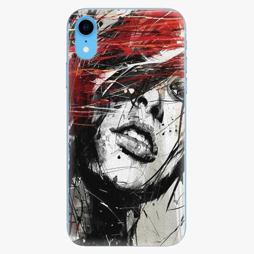 Silikonové pouzdro iSaprio - Sketch Face - iPhone XR