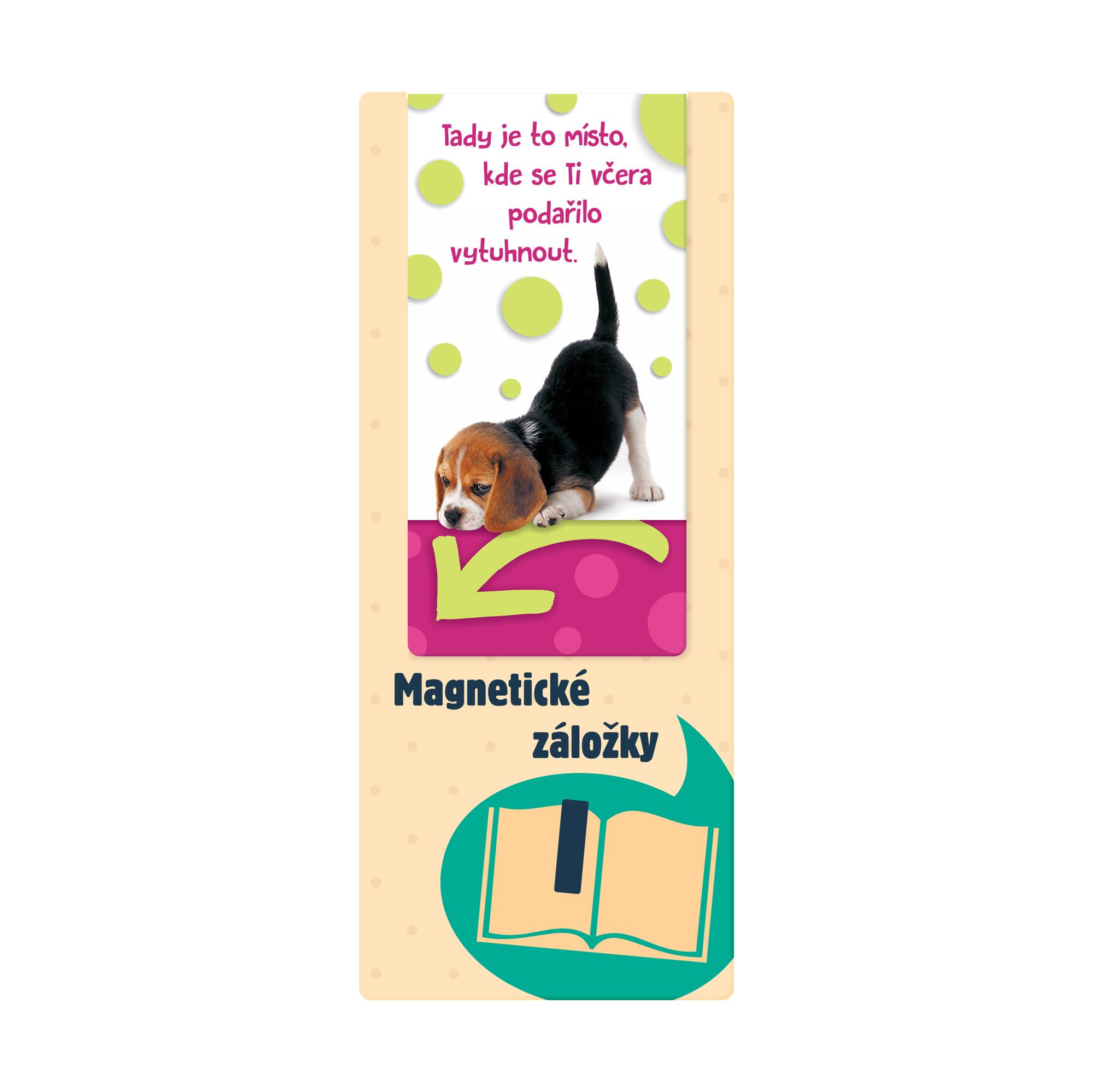 Magnetická záložka - Štěně