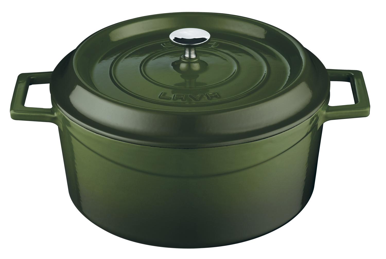 Litinový hrnec kulatý 20cm - zelený
