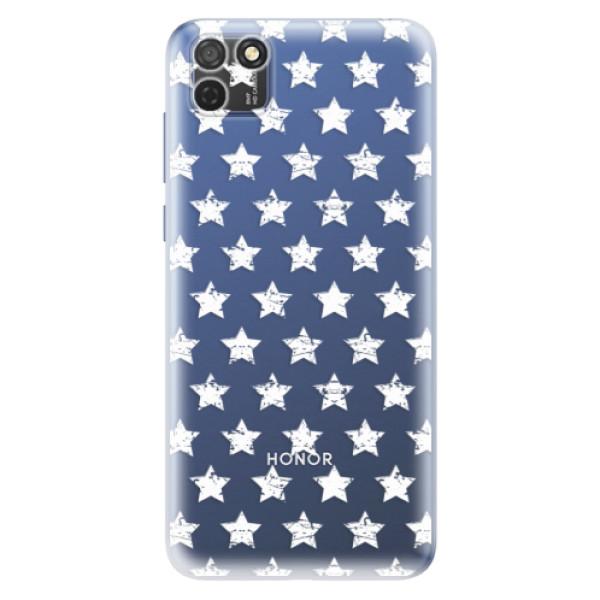 Odolné silikonové pouzdro iSaprio - Stars Pattern - white - Honor 9S