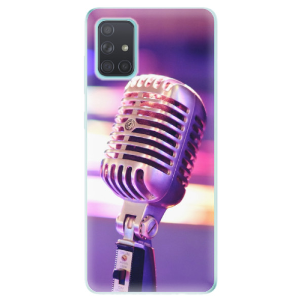Odolné silikonové pouzdro iSaprio - Vintage Microphone - Samsung Galaxy A71