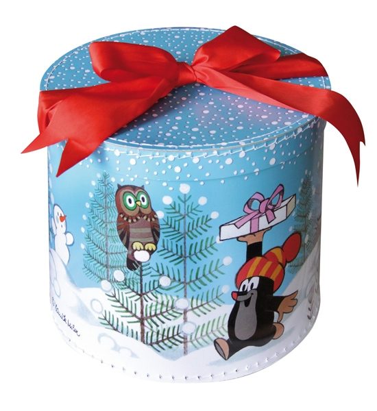 Krabice kulatá - Krtek zima, velká
