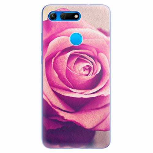 Silikonové pouzdro iSaprio - Pink Rose - Huawei Honor View 20