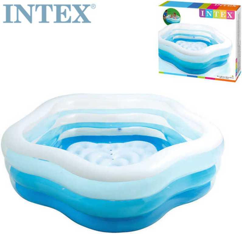 INTEX Bazén nafukovací pětiúhelník 185x180cm 56495