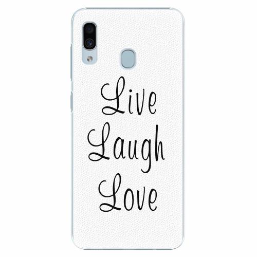 Plastový kryt iSaprio - Live Laugh Love - Samsung Galaxy A30