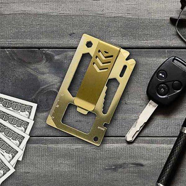 Pozlacený multifunkční klip na bankovky