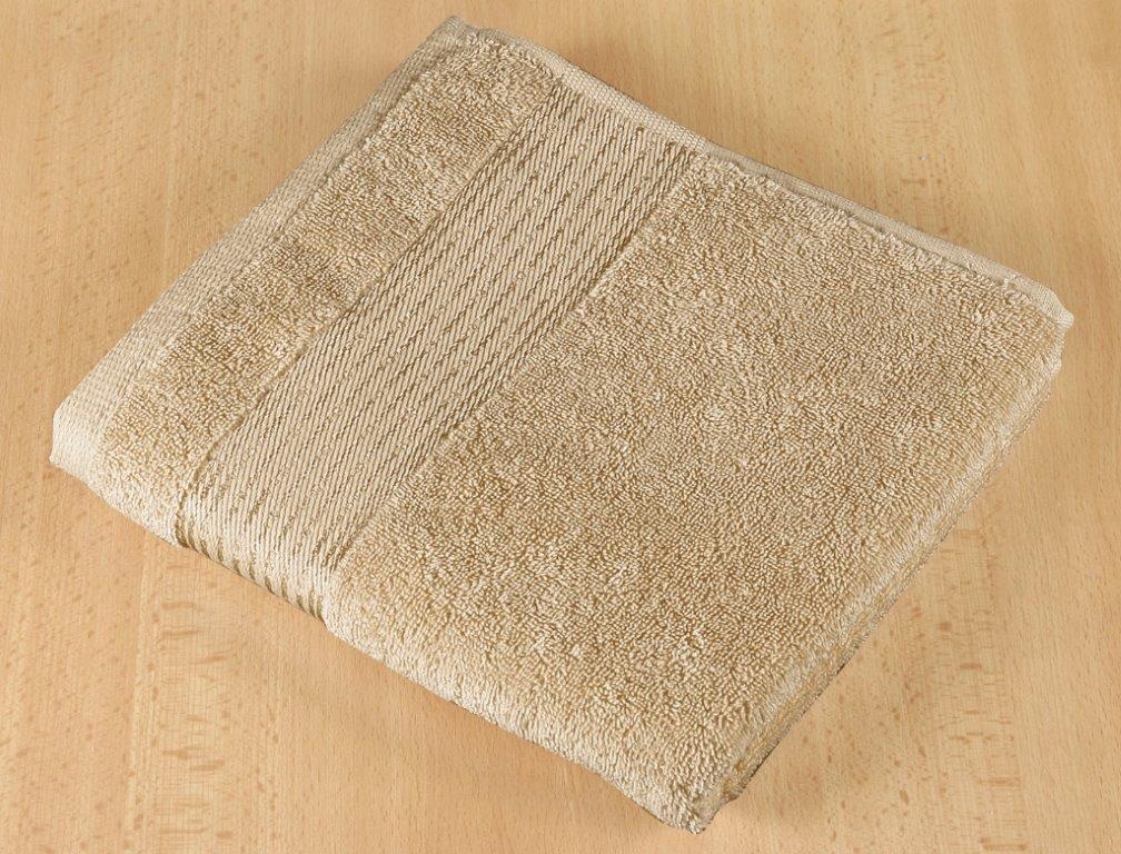 Froté ručník 50x100cm proužek 450g tmavě béžová