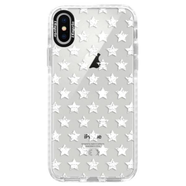 Silikonové pouzdro Bumper iSaprio - Stars Pattern - white - iPhone X