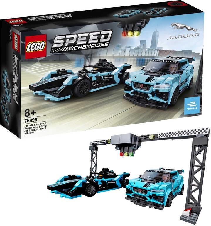 LEGO SPEED CHAMPIONS 2 závodní auta Jaguar 76898 STAVEBNICE