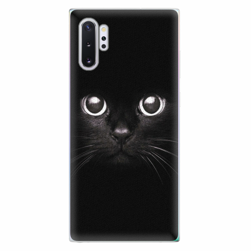 Silikonové pouzdro iSaprio - Black Cat - Samsung Galaxy Note 10+