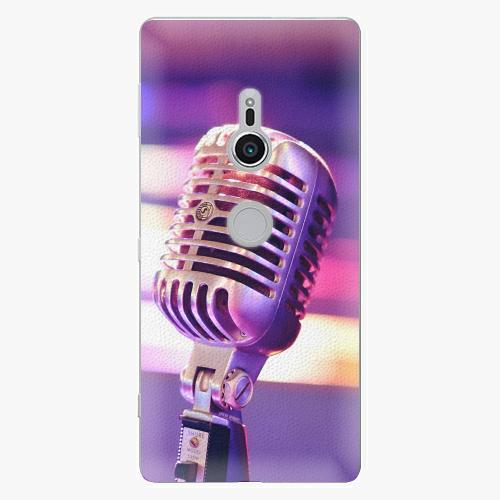 Plastový kryt iSaprio - Vintage Microphone - Sony Xperia XZ2