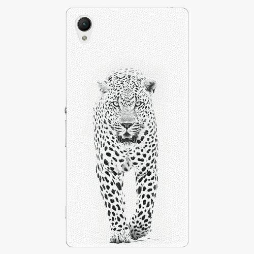 Plastový kryt iSaprio - White Jaguar - Sony Xperia Z1