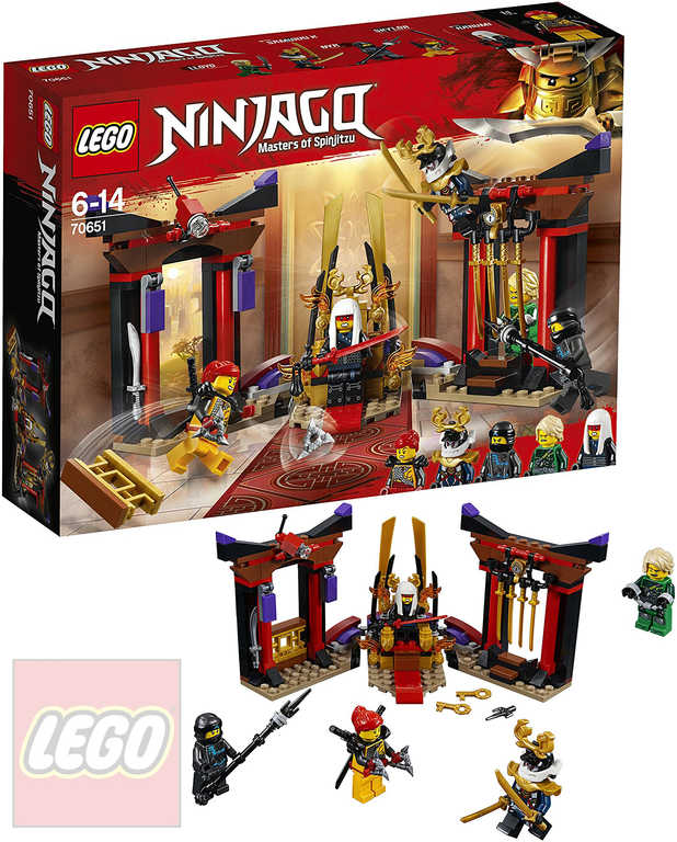 LEGO NINJAGO Závěrečný souboj v trůnním sále 70651 STAVEBNICE