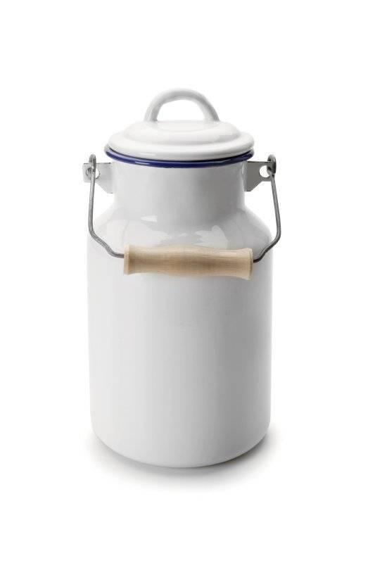 Smaltovaná konvička na mléko 1L