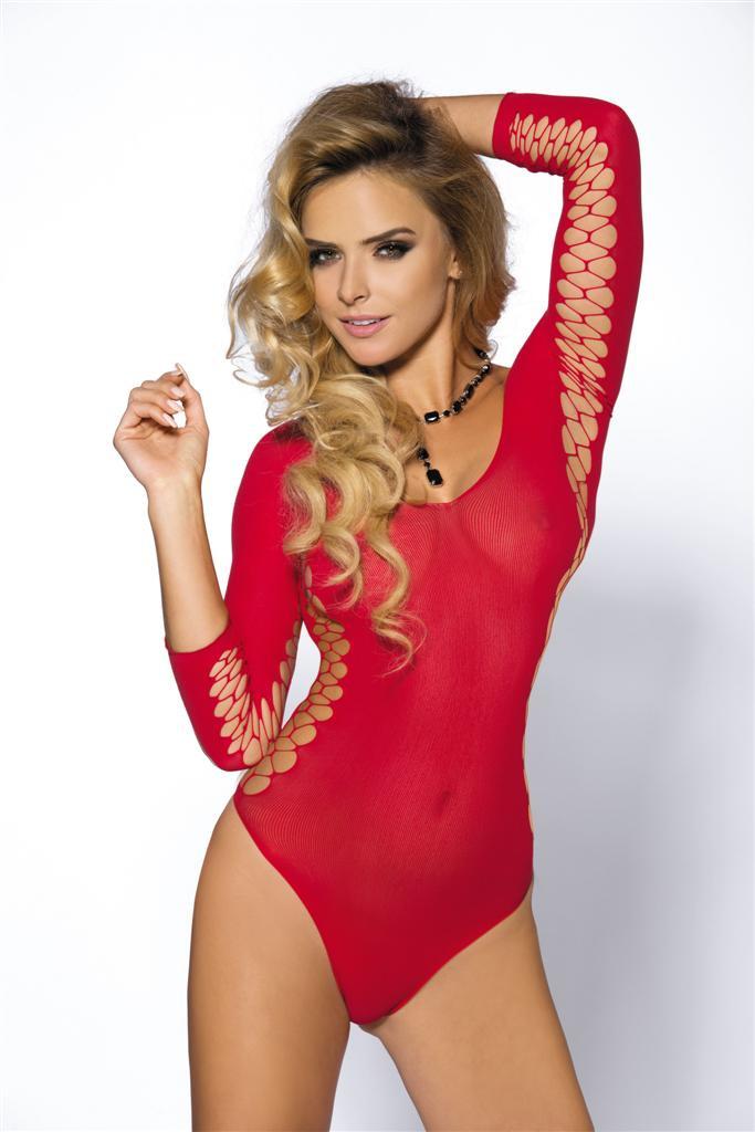 Body Muriel - Anais - Červená/S/M