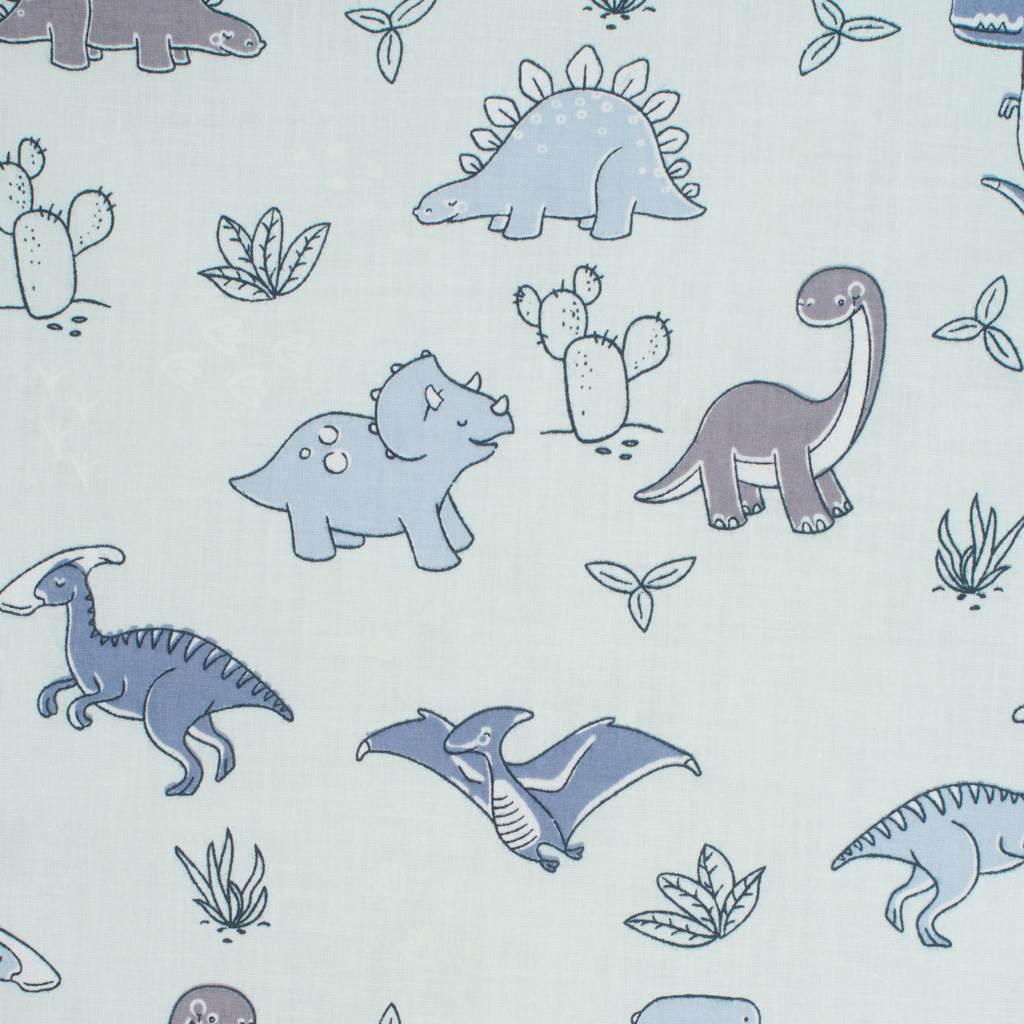 Oboustranný Set z Velvet do kočárku New Baby dinosauři šedý - šedá
