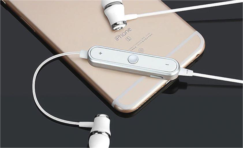 Mini bezdrátová sluchátka - Bílo-stříbrná