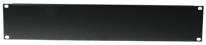 """Přední panel zaslepovací 19 """" 2HE U profil, černý"""