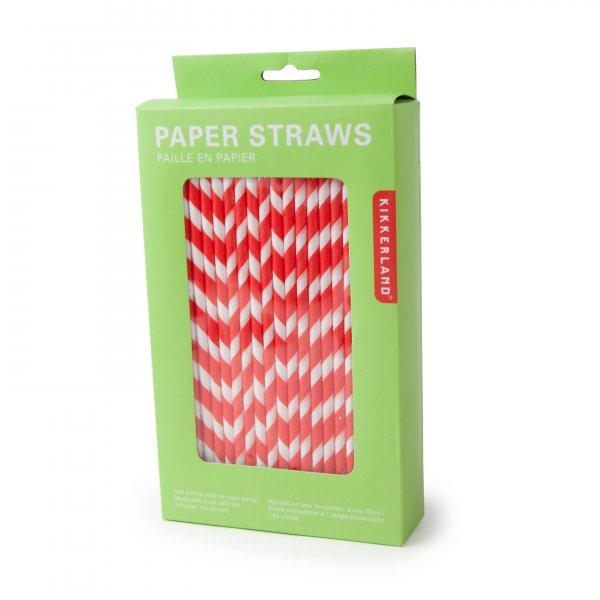 Papírová brčka - červená