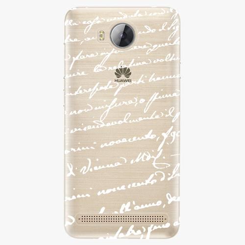 Plastový kryt iSaprio - Handwiting 01 - white - Huawei Y3 II
