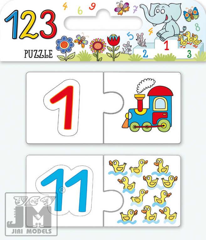 JIRI MODELS PUZZLE Čísla 123  SKLÁDAČKA