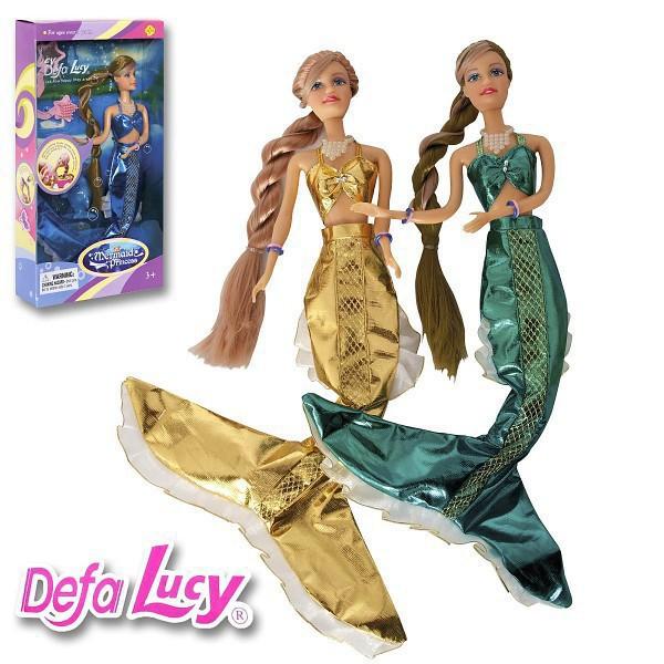 Panenka Lucy mořská panna vlasy mění barvu