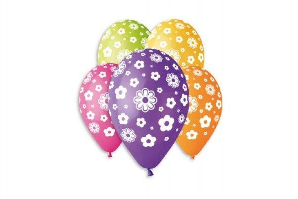 Balonek nafukovací květiny 12'' průměr 30 cm 5 ks