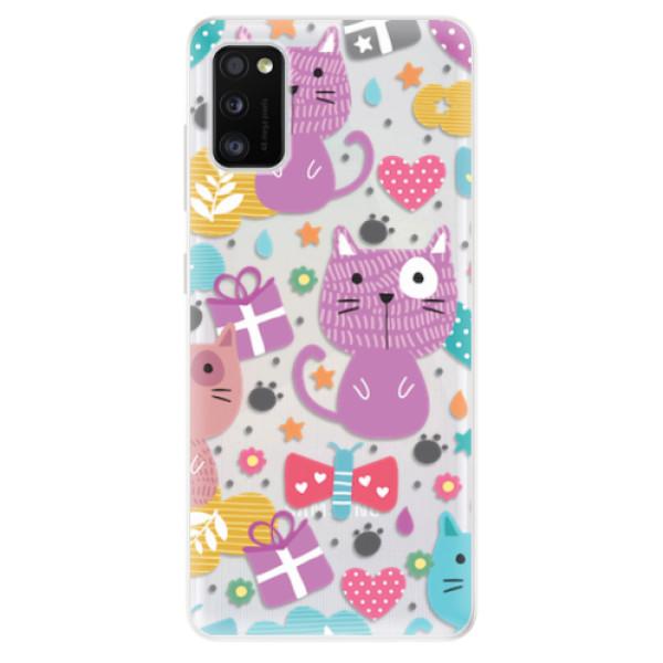 Odolné silikonové pouzdro iSaprio - Cat pattern 01 - Samsung Galaxy A41