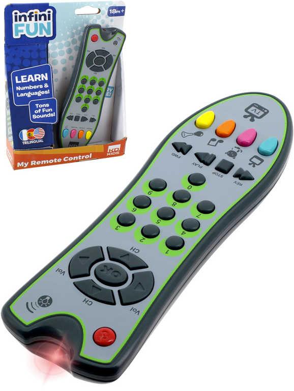 Zip Zap TV ovladač televizní dětský na baterie s melodiemi Světlo Zvuk plast