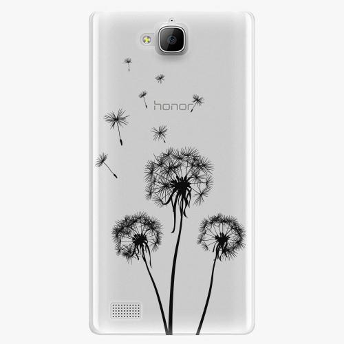 Plastový kryt iSaprio - Three Dandelions - black - Huawei Honor 3C