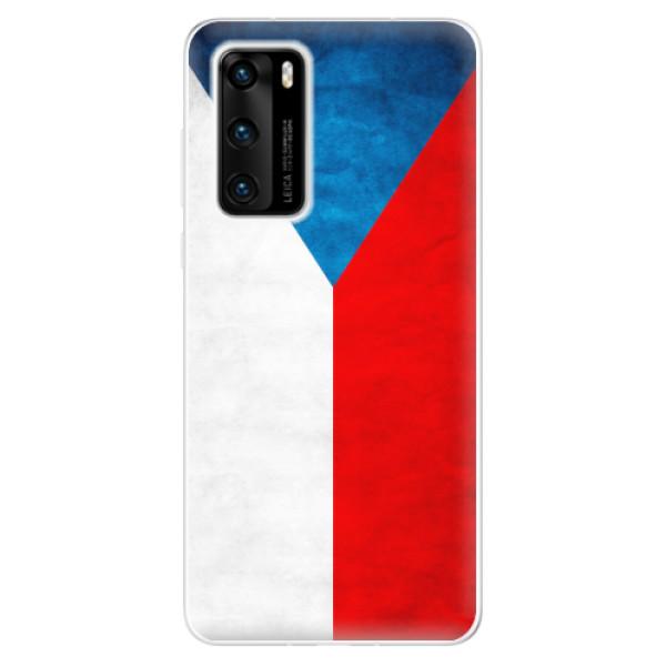 Odolné silikonové pouzdro iSaprio - Czech Flag - Huawei P40
