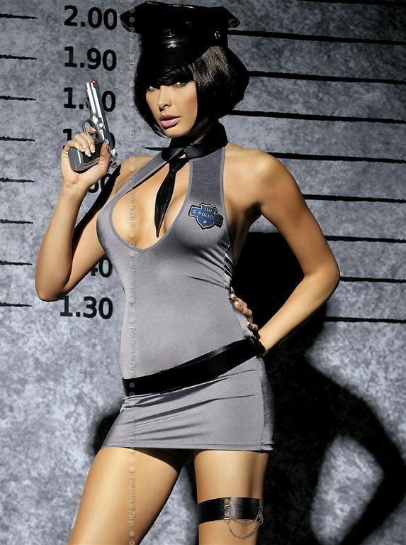 Sexy kostým Police dress - Obsessive - Dle obrázku/L/XL