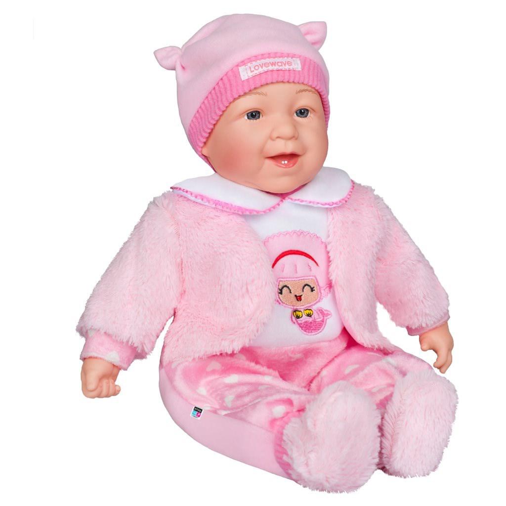 Česky mluvící a zpívající dětská panenka PlayTo - Nelinka 46 cm - růžová