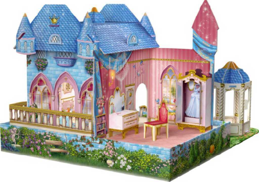 TREFL 3D Skládačka prostorová Zámek 40x31cm Popelka Disney Princess