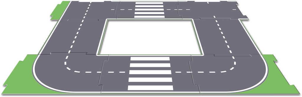EFKO IGRÁČEK MultiGO Silnice oboustranná 8 dílů doplněk k herním setům