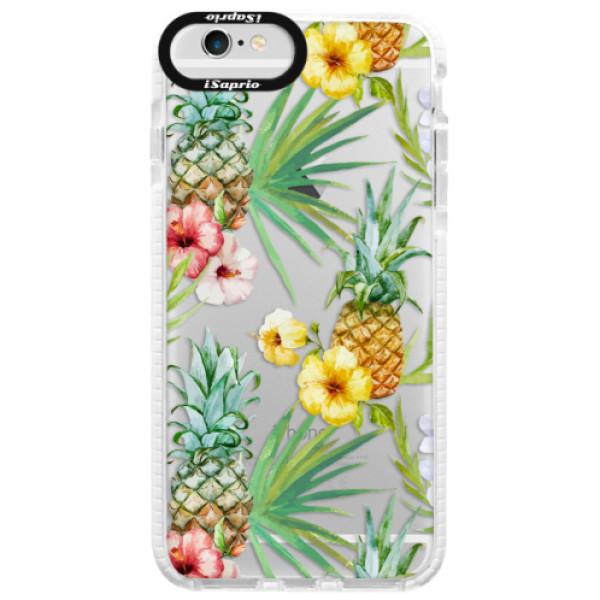 Silikonové pouzdro Bumper iSaprio - Pineapple Pattern 02 - iPhone 6/6S