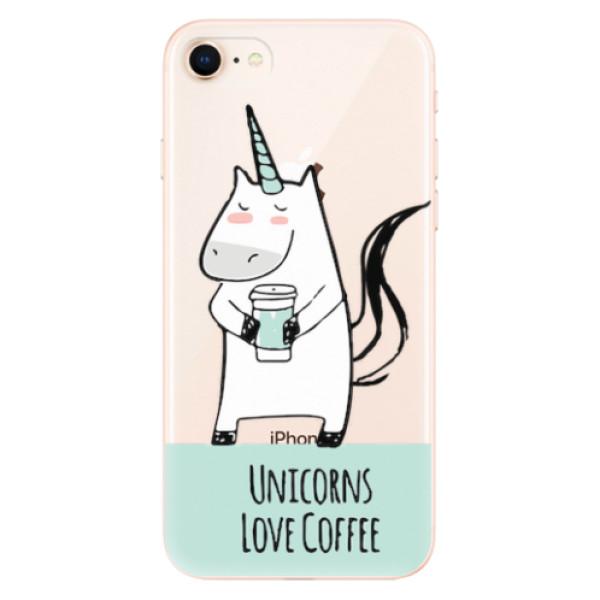Odolné silikonové pouzdro iSaprio - Unicorns Love Coffee - iPhone 8