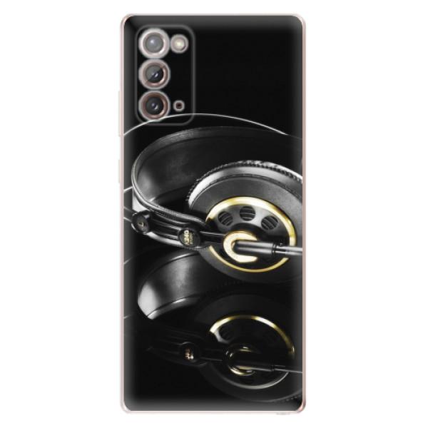 Odolné silikonové pouzdro iSaprio - Headphones 02 - Samsung Galaxy Note 20