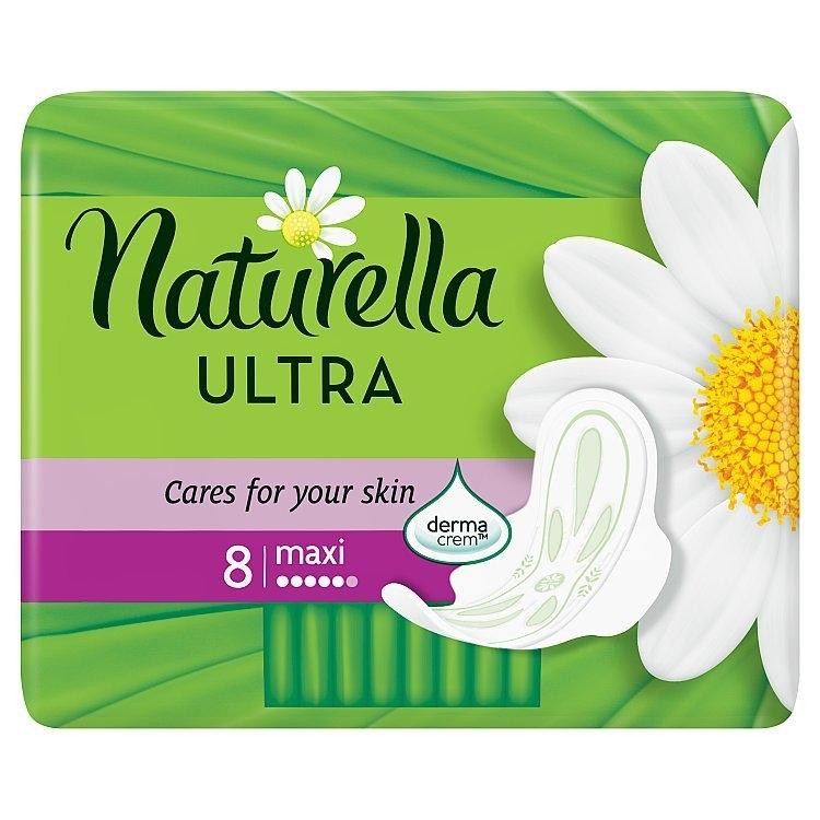 Camomile Ultra maxi hygienické vložky s křidélký a jemnou vůní 8ks/bal.