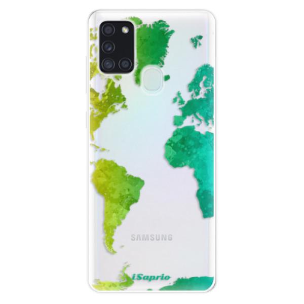 Odolné silikonové pouzdro iSaprio - Cold Map - Samsung Galaxy A21s