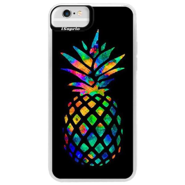 Neonové pouzdro Blue iSaprio - Rainbow Pineapple - iPhone 6 Plus/6S Plus
