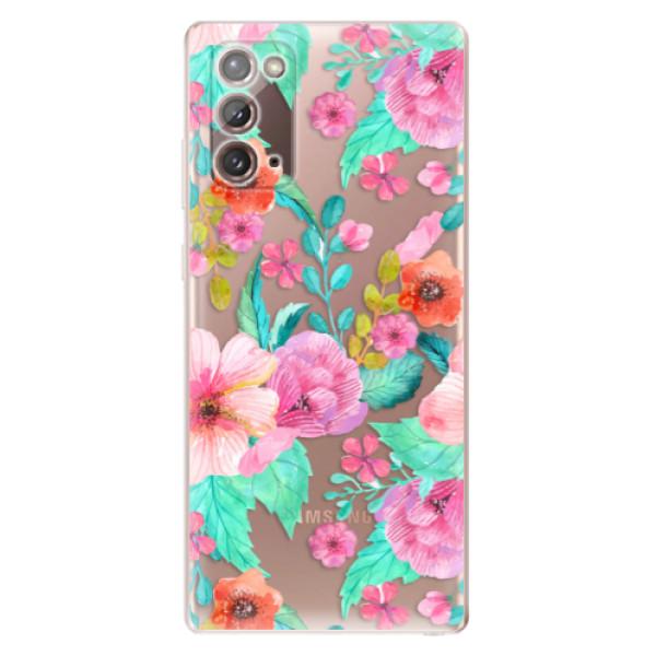 Odolné silikonové pouzdro iSaprio - Flower Pattern 01 - Samsung Galaxy Note 20