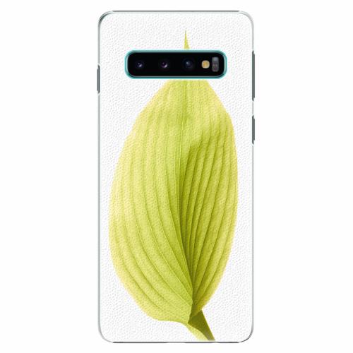 Plastový kryt iSaprio - Green Leaf - Samsung Galaxy S10